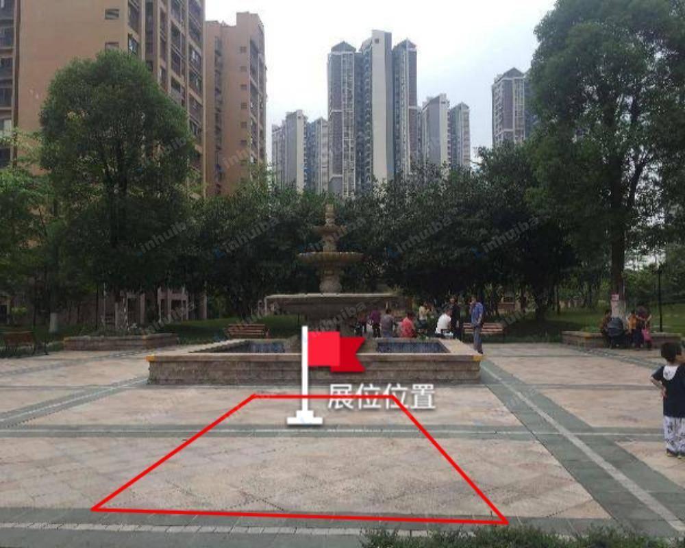广州奥园春晓 - 中庭喷水池旁