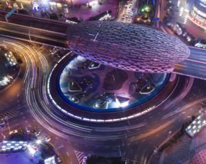 上海五角场下沉式广场