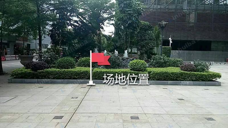 深圳市万利达大厦 - 广场的水池边上
