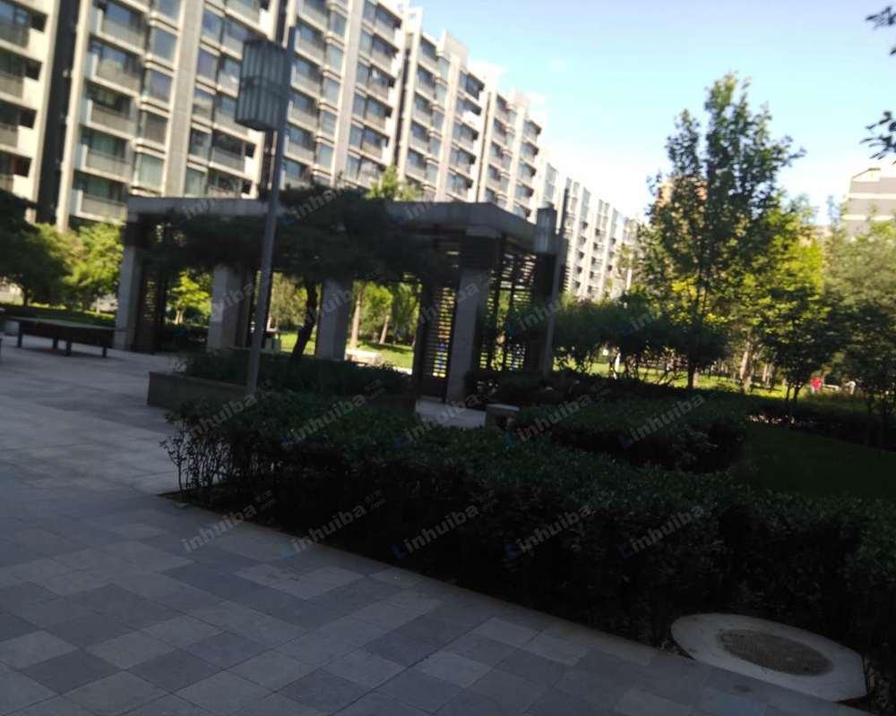 北京华发颐园 - 中央广场乒乓球台旁